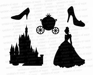 Cinderella Silhouettes // Cinderella Disney Castle Silhouette