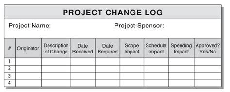 change log more on change management the change log