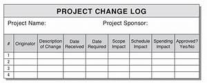 more on change management the change log With change log template project management