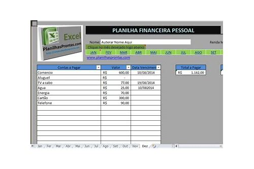 planilha do excel para download gratis