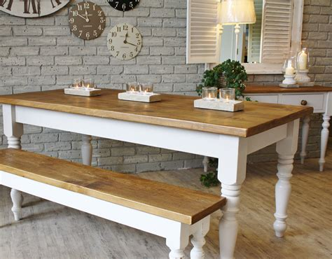 farm style table with bench farmhouse wooden kitchen tables as ageless rustic interior