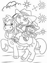 Dora Coloring Pages Explorer Boots Printable Print Colouring Swiper Sheets Horse Riding Isa Benny Diego Friends Featuring Dress Doratheexplorertvshow sketch template