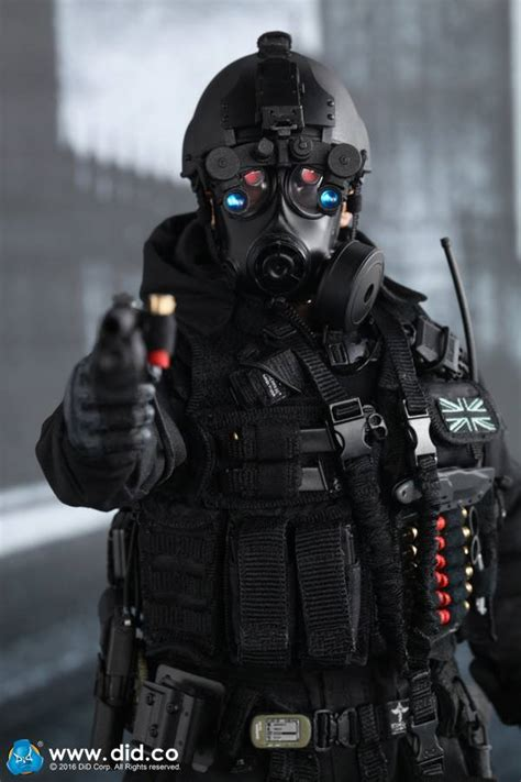 toyhaven: DID Corporation 1:6 scale British Special Air Service (SAS) B Squadon Black Ops Team