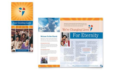 Church Brochure Templates by Evangelical Church Brochure Template Word Publisher