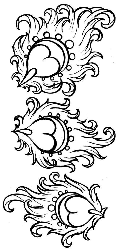 Art Nouveau Peacock Feather Tattoo by ~Metacharis on deviantART (like the hearts inside