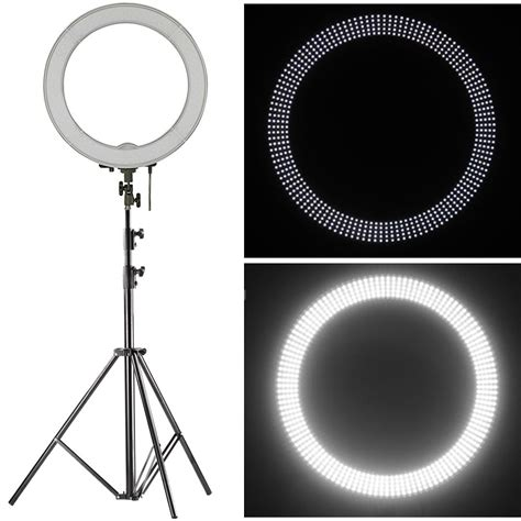 ring light for video neewer 18 quot led ring light dimmable for camera photo jet com