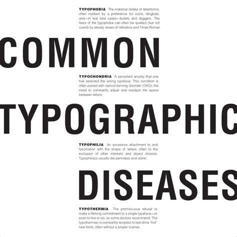 common typographic diseases text layouts on behance