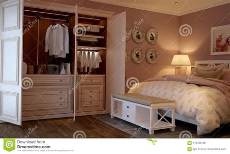The Bedroom In The Provence Style by Interior Of The Bedroom In The Provence Style Stock