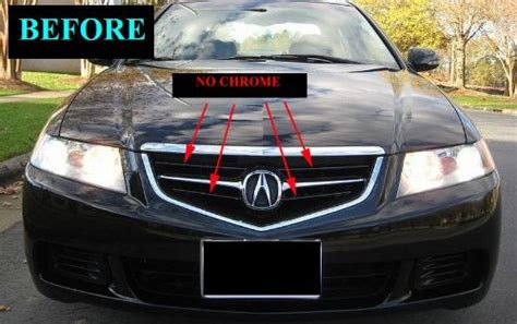 motoring fits   acura tsx chrome grille grill