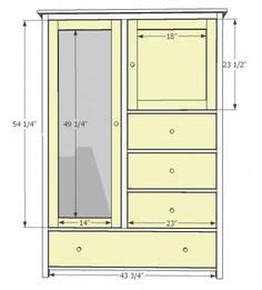 American Armoire Plans by Free Armoire Wardrobe Closet Plans How To Build A