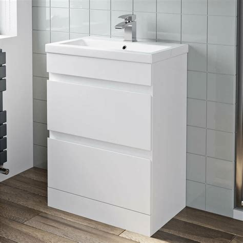mm bathroom vanity unit basin storage  drawer cabinet