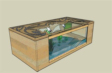 table basse avec aquarium integre table basse avec aquarium int 233 gr 233 table de lit