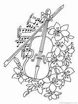 Instruments Coloring Pages Musical Jazz sketch template