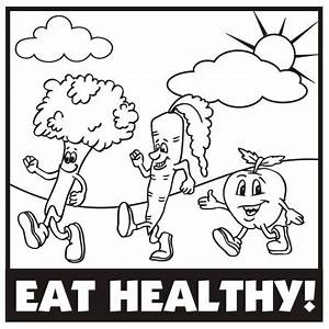 Images of Eating Healthy Food Clipart Black And White - #Summer