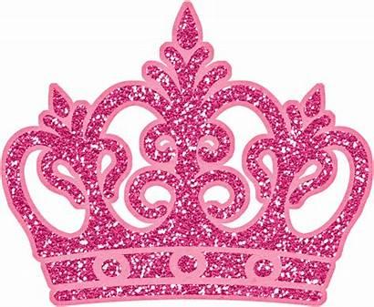 Crown Clipart Pink Glitter Crafts Princess Transparent