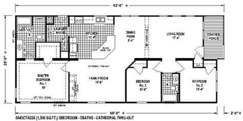 sectional mobile home floor plan   spring view