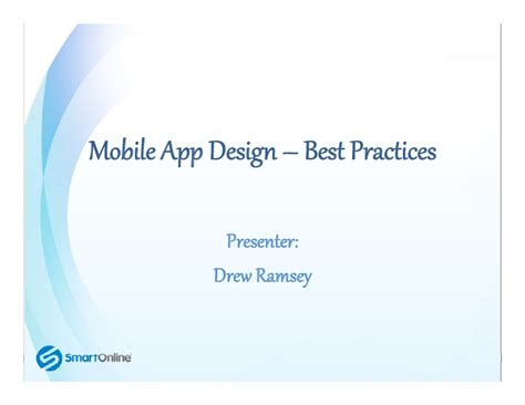 mobile app design best practices