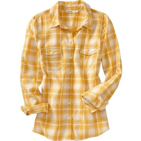 Old Navy Womenu0026#39;s Plaid Flannel Shirts (u00a320) liked on Polyvore featuring tops plaid shirts ...