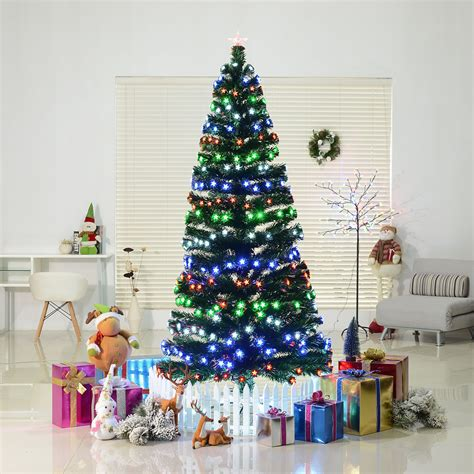 what artificial pre lit chridtmas are at home depot indoor pre lit rotating fiber tree artificial