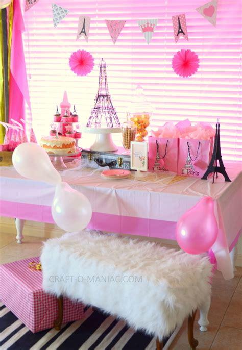 paris themed birthday party craft  maniac