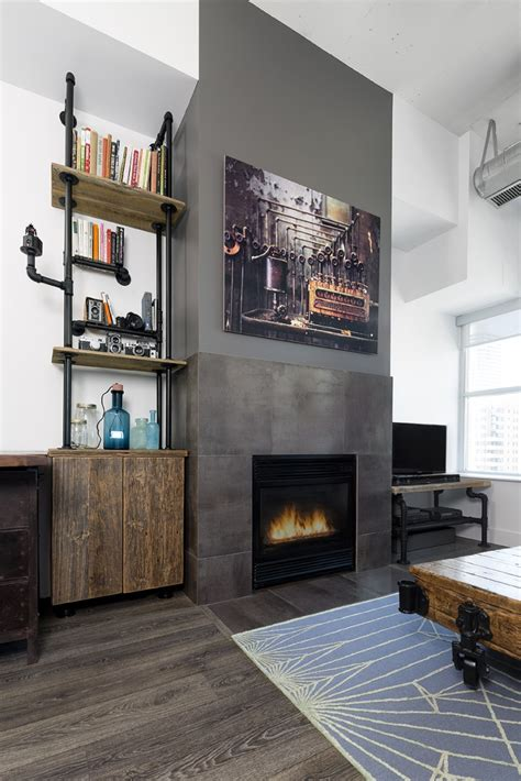 outdated toronto loft  modernized  industrial touches