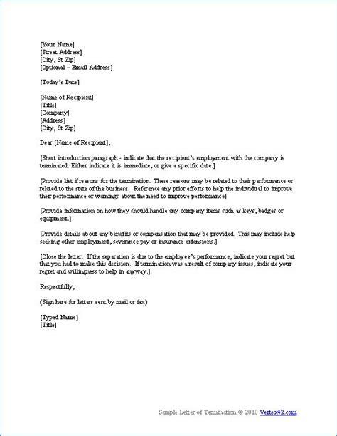 termination letter template  veo rtex