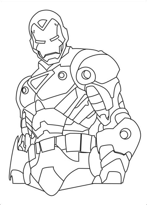 marvel superhero ironman coloring page printable