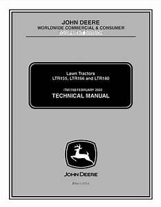 John Deere Ltr155 Ltr166 Ltr180 Lawn Tractors Tm1768