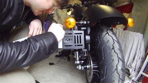 harley davidson iron  side mount licence plate   sale youtube
