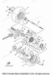 Yamaha Atv 2004 Oem Parts Diagram For Rear Wheel