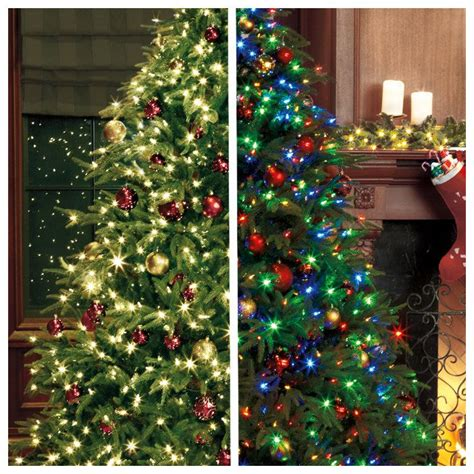 mixing white and colored lights on tree tree with white lights change to multi color with a touch