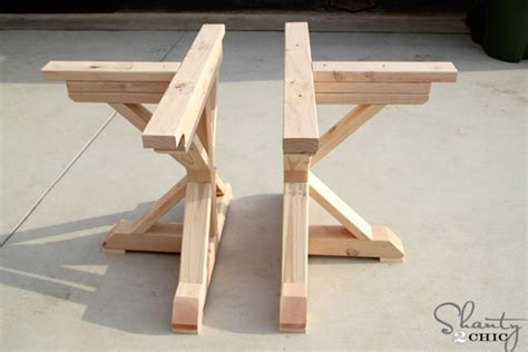 how to make desk legs restoration hardware inspired dining table for 110