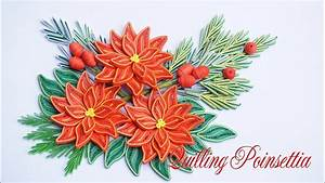 how to make a poinsettia flower out of paper quilling poinsettia flower v3 tutorial diy paper