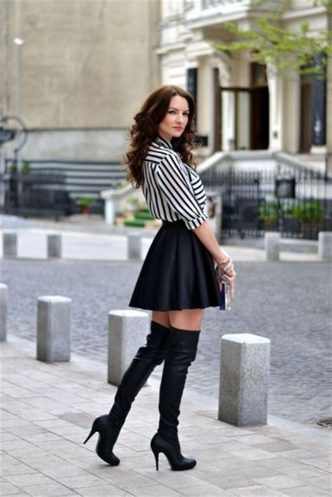 sexy fall outfits  thigh high boots