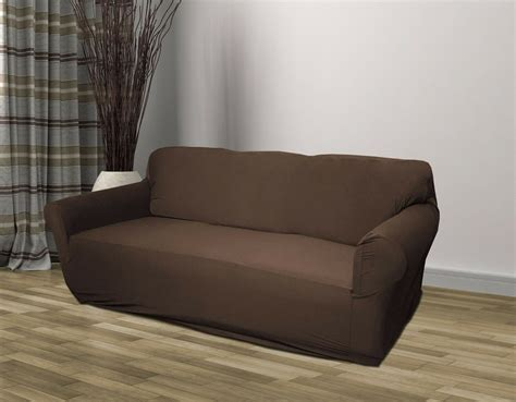 brown jersey sofa stretch slipcover couch cover