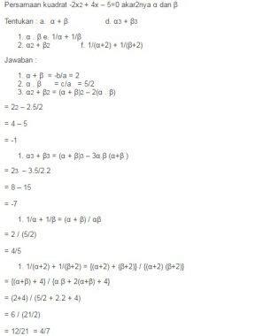 rumus persamaan kuadrat matematika lengkap rumus rumus