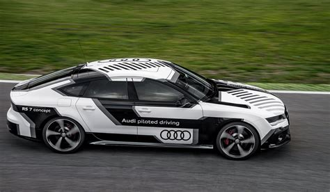 Audi Rs 7 Automated Driving Concept Shown On A Race Track