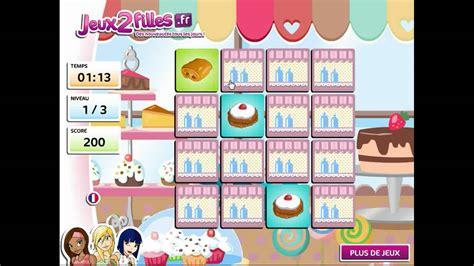 jeu de cuisin jeu de paires de gâteaux jeux de cuisine jeux de fille