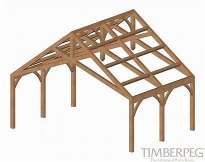 Truss Scissor Trusses Timberpeg Pole Barn Carport