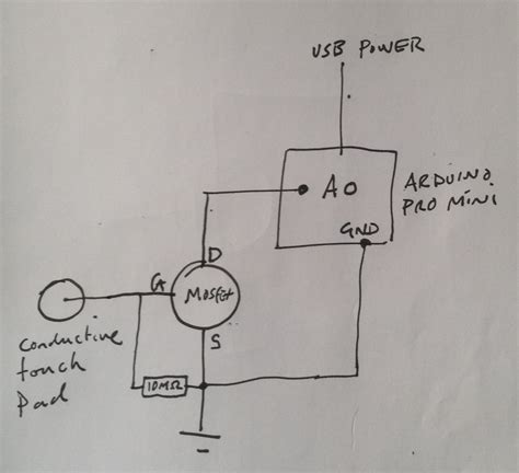 Arduino Mosfet Touch Switch Electrical Engineering Stack