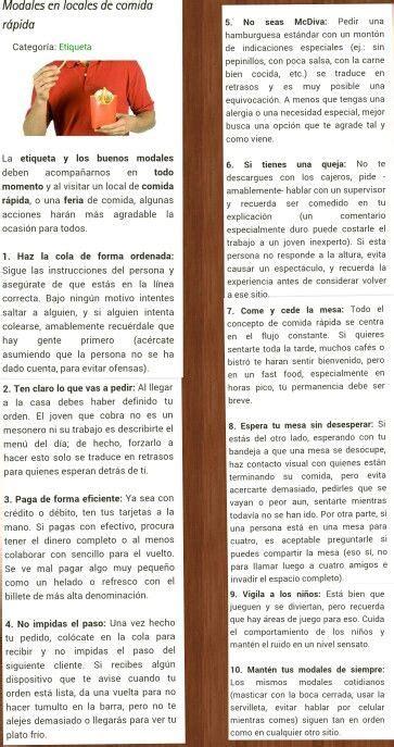 table manners 1 of 2 etiqueta glamour y protocolo by dd modales en locales de comida rápida conocimientos