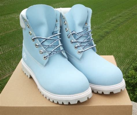 light blue timberland boots shop by s timberland 6 inch waterproof boot light blue