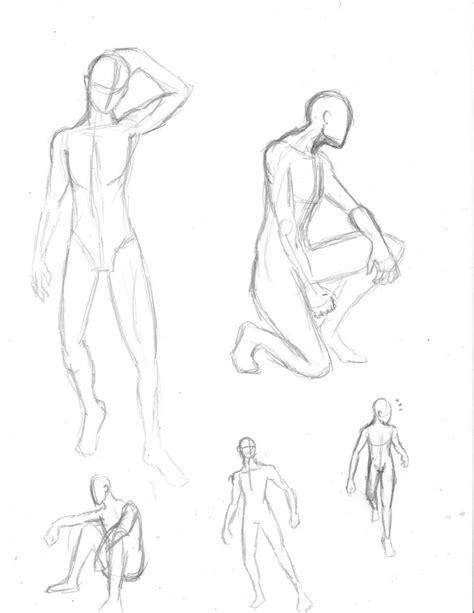 male body poses sketch  caz   deviantart