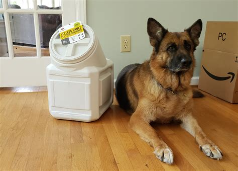 dry dog food container  german shepherds