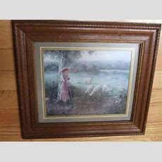 Home Interiors Victorian Lady Picture  Ebay
