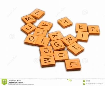 Scrabble Tiles Letters Pile Random