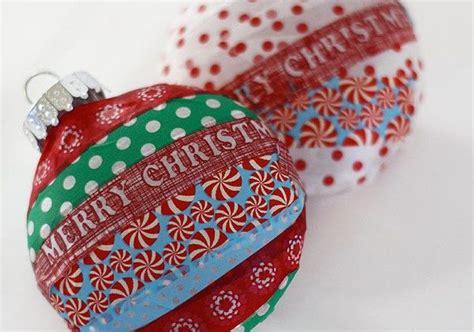 washi tape christmas tree ornaments alpha mom