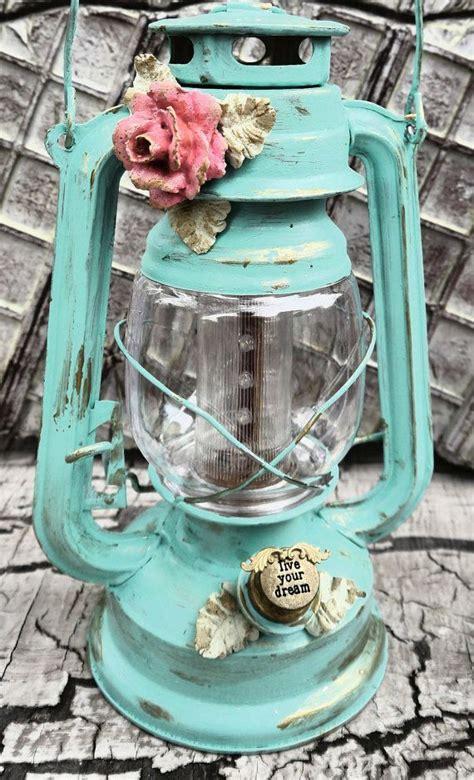 shabby chic lanterns led railroad hanging lantern turquoise lantern shabby chic gling