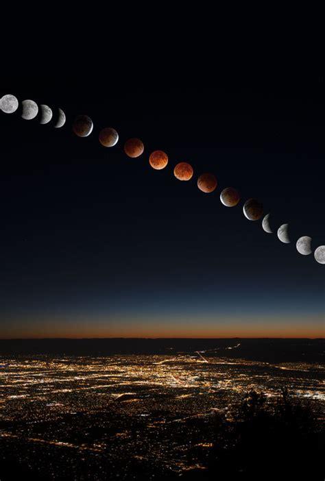 blood red moon lunar eclipse  albuquerque