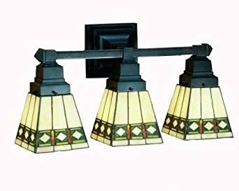 Stained Glass Bathroom Light Fixtures by Mission Stained Glass Bathroom Lighting